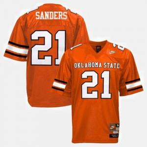 Barry Sanders Oklahoma State Jersey #21 College Football Men Orange