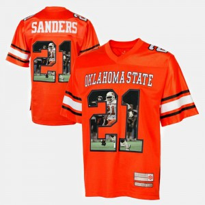 Barry Sanders Oklahoma State Jersey For Men's Player Pictorial #21 Orange