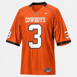 Brandon Weeden Oklahoma State Jersey Orange College Football #3 For Kids