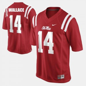 College Football Red #14 Bo Wallace Ole Miss Jersey For Men