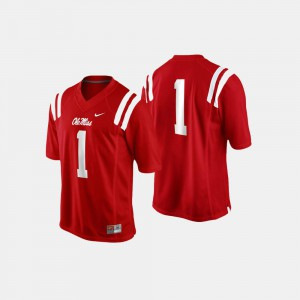 #1 Men's Ole Miss Jersey Cardinal College Football