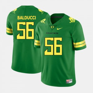 Alex Balducci Oregon Jersey Men Green College Football #56