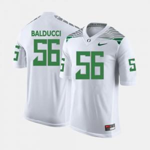 #56 For Men Alex Balducci Oregon Jersey College Football White