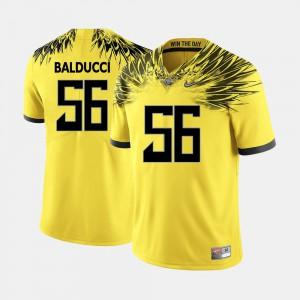 For Men's Alex Balducci Oregon Jersey Yellow #56 College Football