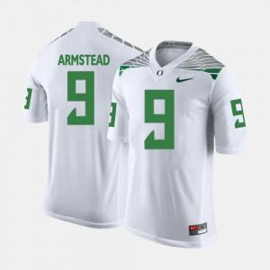 #9 College Football Arik Armstead Oregon Jersey White For Men