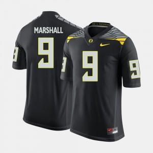 Black #9 Byron Marshall Oregon Jersey College Football For Men