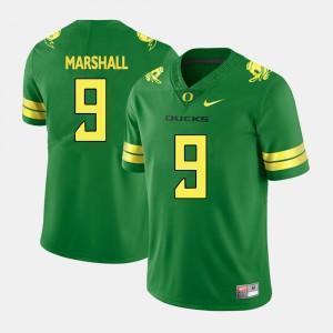 College Football #9 Green Mens Byron Marshall Oregon Jersey
