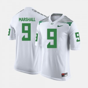 For Men College Football #9 White Byron Marshall Oregon Jersey