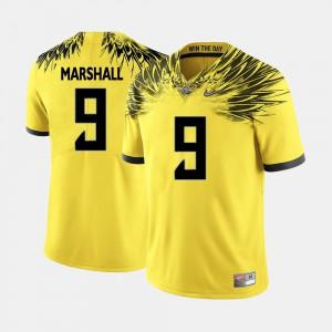 College Football Byron Marshall Oregon Jersey Men's #9 Yellow