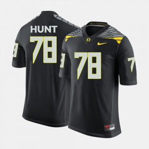 #78 Cameron Hunt Oregon Jersey For Men's Black College Football