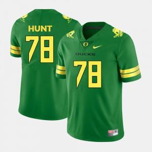 Mens College Football Cameron Hunt Oregon Jersey #78 Green