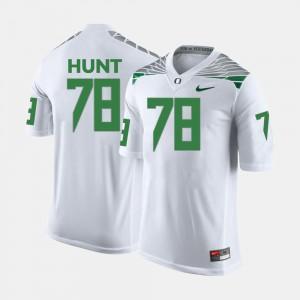 Men #78 Cameron Hunt Oregon Jersey White College Football