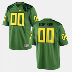 #00 College Football Mens Green Oregon Customized Jerseys