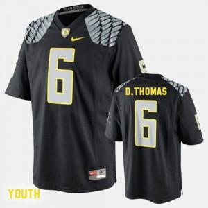 College Football De'Anthony Thomas Oregon Jersey Black Kids #6