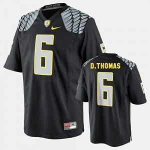 De'Anthony Thomas Oregon Jersey #6 College Football Black Mens