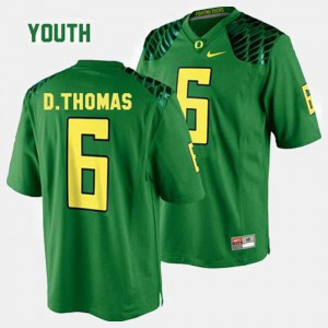 De'Anthony Thomas Oregon Jersey College Football Green Kids #6