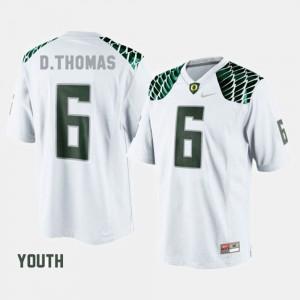 #6 College Football Kids De'Anthony Thomas Oregon Jersey White