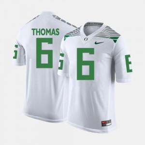 White #6 College Football Mens De'Anthony Thomas Oregon Jersey