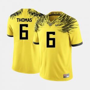 Men's College Football Yellow De'Anthony Thomas Oregon Jersey #6