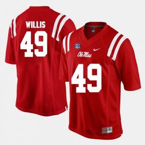 Patrick Willis Ole Miss Jersey Red Alumni Football Game Mens #49