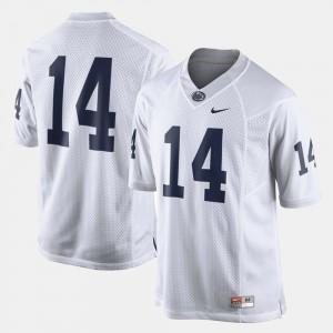 For Men's #14 Penn State Jersey White College Football
