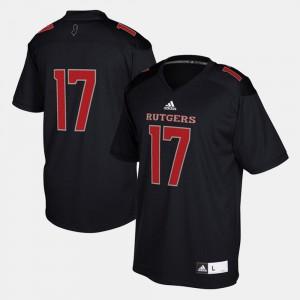 Black #17 Rutgers Jersey Mens 2017 Special Games