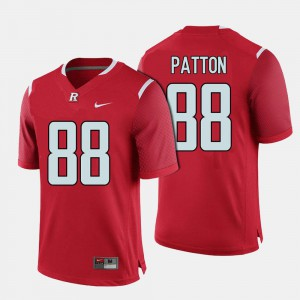 Andre Patton Rutgers Jersey Red #88 For Men College Football