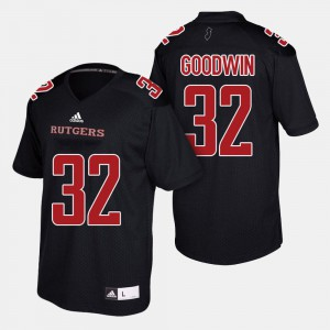College Football Justin Goodwin Rutgers Jersey #32 Men's Black