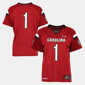 #1 South Carolina Jersey College Football For Women's Garnet