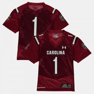 Garnet South Carolina Jersey Youth(Kids) #1 College Football