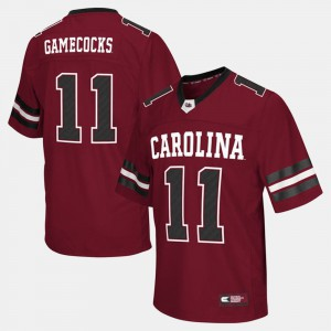 South Carolina Jersey Garnet College Football Men's #11