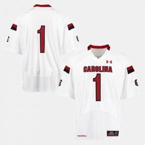South Carolina Jersey #1 White College Football Men