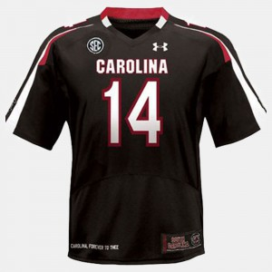 Connor Shaw South Carolina Jersey Youth #14 Black College Football