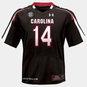 Connor Shaw South Carolina Jersey #14 Black Men's College Football