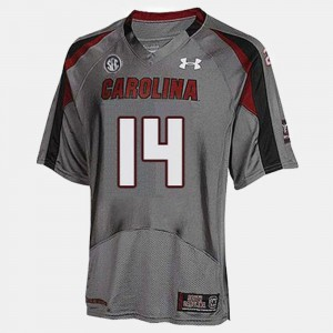 Gray Youth(Kids) College Football #14 Connor Shaw South Carolina Jersey