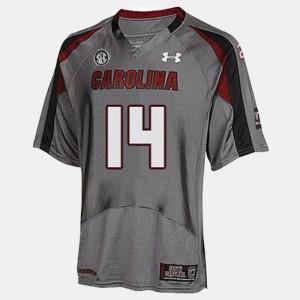 Connor Shaw South Carolina Jersey Mens Gray #14 College Football