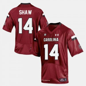 Mens Red Connor Shaw South Carolina Jersey #14 College Football