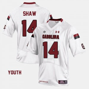White College Football #14 Connor Shaw South Carolina Jersey Kids