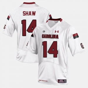 White For Men #14 Connor Shaw South Carolina Jersey College Football