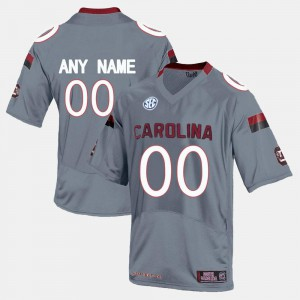 Grey College Limited Football #00 Men South Carolina Customized Jersey