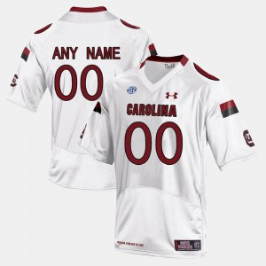College Limited Football For Men's #00 White South Carolina Customized Jersey