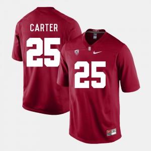 Men's #25 Cardinal College Football Alex Carter Stanford Jersey