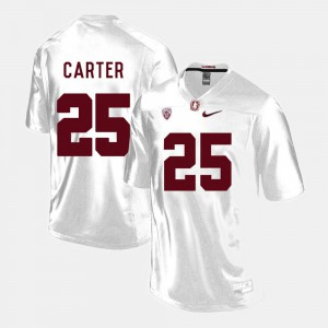 Alex Carter Stanford Jersey White College Football #25 Men's