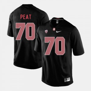 Black #70 Andrus Peat Stanford Jersey Men College Football