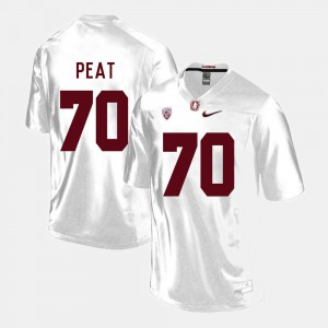 College Football For Men's White Andrus Peat Stanford Jersey #70