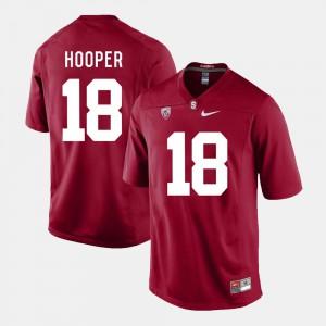 Mens Austin Hooper Stanford Jersey Cardinal #18 College Football