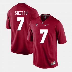 College Football Aziz Shittu Stanford Jersey For Men's Cardinal #7