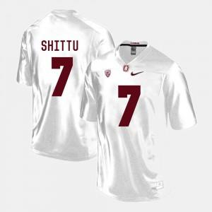 Aziz Shittu Stanford Jersey White #7 For Men's College Football