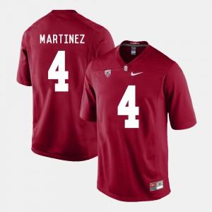 Cardinal College Football For Men #4 Blake Martinez Stanford Jersey