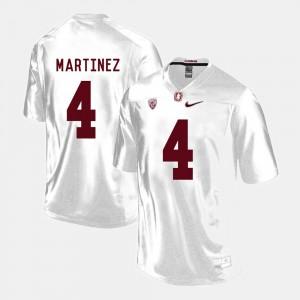 College Football Blake Martinez Stanford Jersey For Men's #4 White